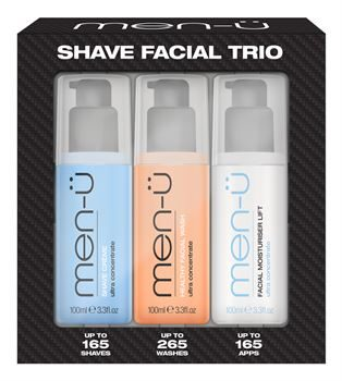 1. men-u Shave Facial Trio
